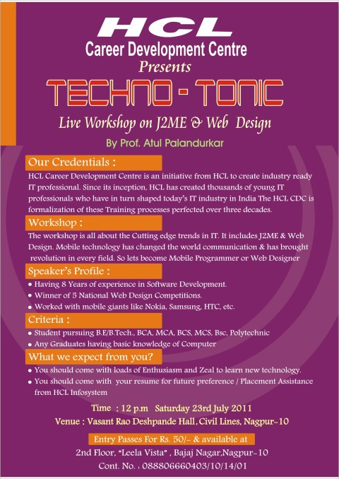 Techno-Tonic - Workshop
